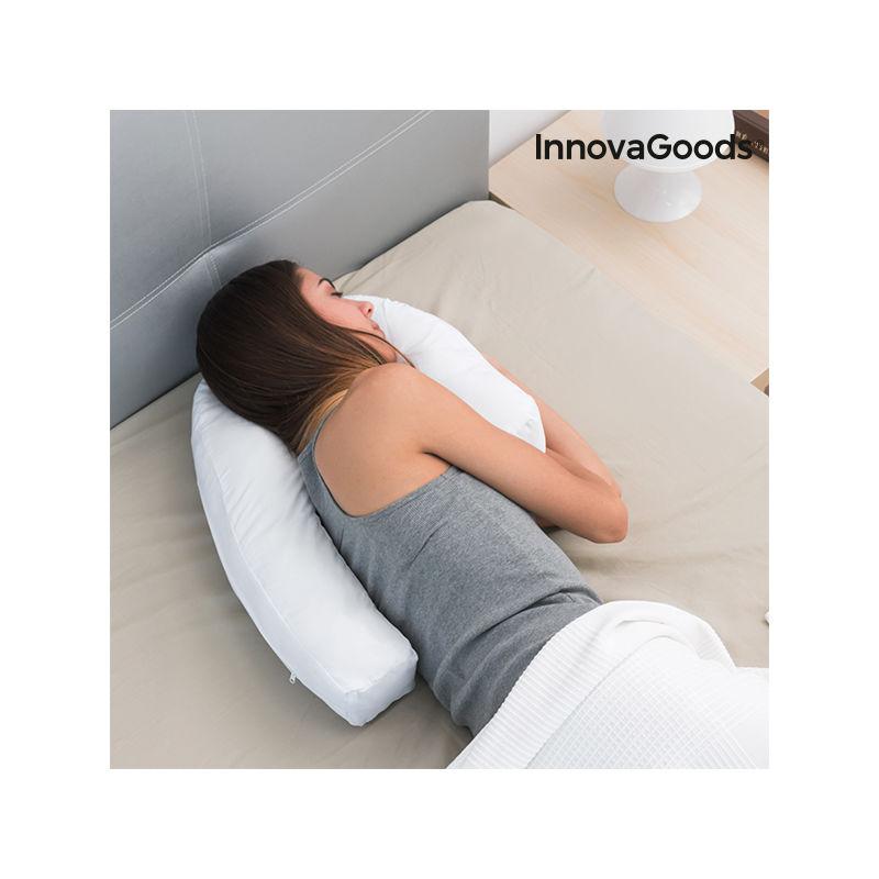 Blanco InnovaGoods Almohada Ergon/ómica de Postura Lateral U 39 x 57 x 14 cm