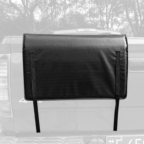 Almohadilla de proteccion para la cubierta del porton trasero Almohadilla para recoger bicicletas de montana con 2 correas de fijacion para el cuadro de la bicicleta para camion, Negro, XS