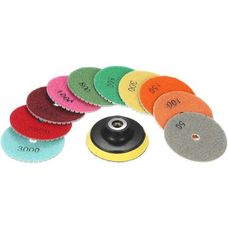 Almohadillas de pulido humedas flexibles de diamante de 10 piezas de 3 pulgadas