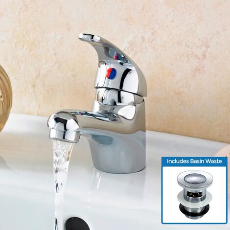Alnore Basin Mono Mixer Tap With Waste
