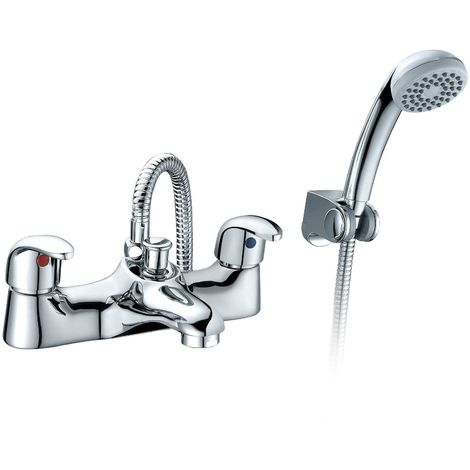 Alnore - Bath Shower Mixer Tap And Handset Complete Set