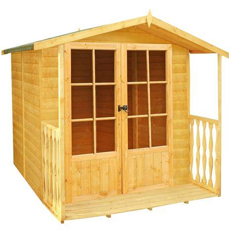 "main image of ""Alnwick Shiplap Summerhouse Garden Sun Room Approx 7 x 7 Feet"""
