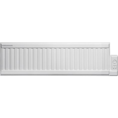 ALO eco Oil-Filled Electric Radiator, Skirting Wall Heater, Low Profile + Thermostat