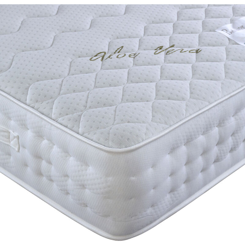 Image of Aloe Vera Pocket Sprung Memory Foam Mattress Double - BEDMASTER