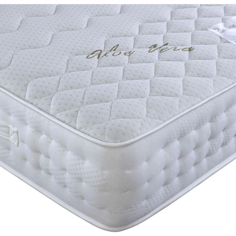 Image of Aloe Vera Pocket Sprung Memory Foam Mattress Single - BEDMASTER