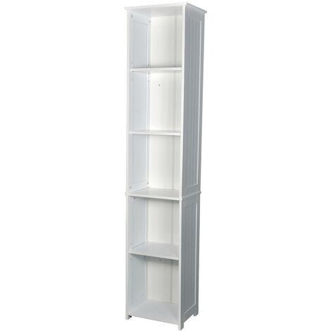Alorta Tall Cupbard - White Cabinet