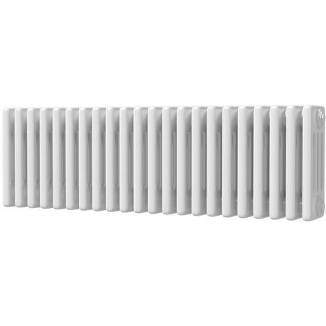 Alpha Traditional Horizontal 4 Column Radiator White - choose size