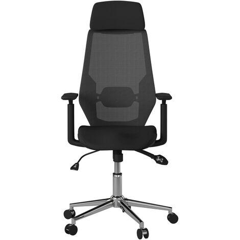 Alphason Clifton Height Adjustable Office Desk Swivel Chair Mesh Back Black