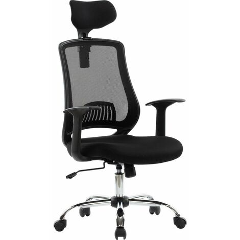 Alphason Florida Mesh Tilting Executive Office Chair Black Height Adjustable