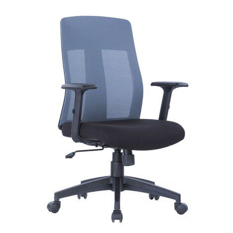 Alphason Laguna Grey Mesh Back Height Adjustable Office Desk Chair