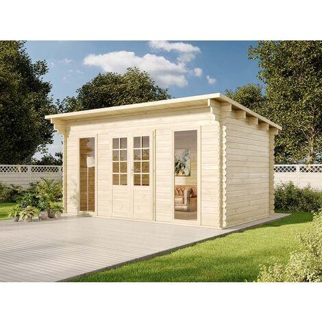 Alpholz Gartenhaus aus Holz Kansas , ohne Imprägnierung , ohne Farbbehandlung