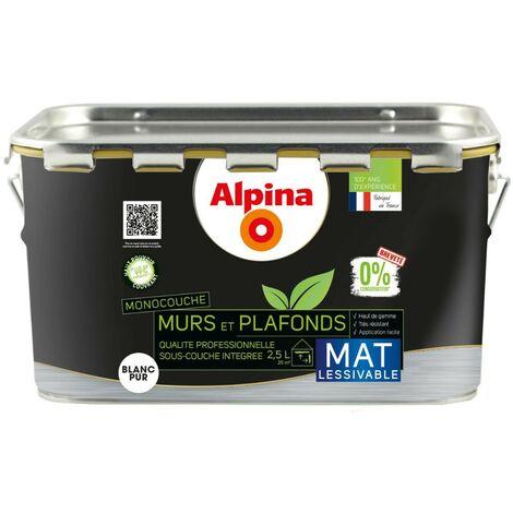 Alpina 0% Conservateur Mur Plafond Monocouche Mat 10L Blanc