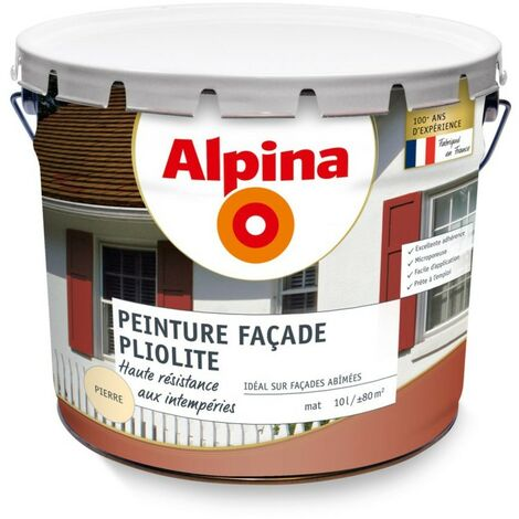 Alpina façade pliolite 5 ans ton pierre 10L