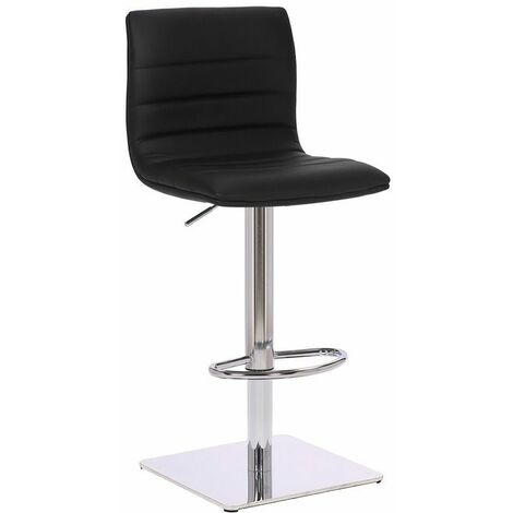 Alpino Brushed Deluxe Kitchen Breakfast Bar Stool Square Weighted Base Height Adjustable Padded