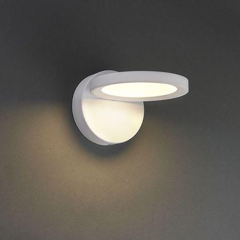 Alsafi 1Lt Wall Light 11W Warm White - Textured Matt White Paint