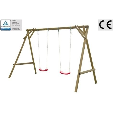 Altalena da giardino per bambini in legno d 39 abete nordico for Altalena da giardino per bambini chicco