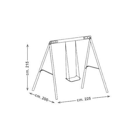 """main image of """"Altalena singola DINDO ONE con struttura in acciai"""""""