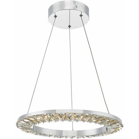 Altamura stainless steel and crystal pendant light 1 bulb