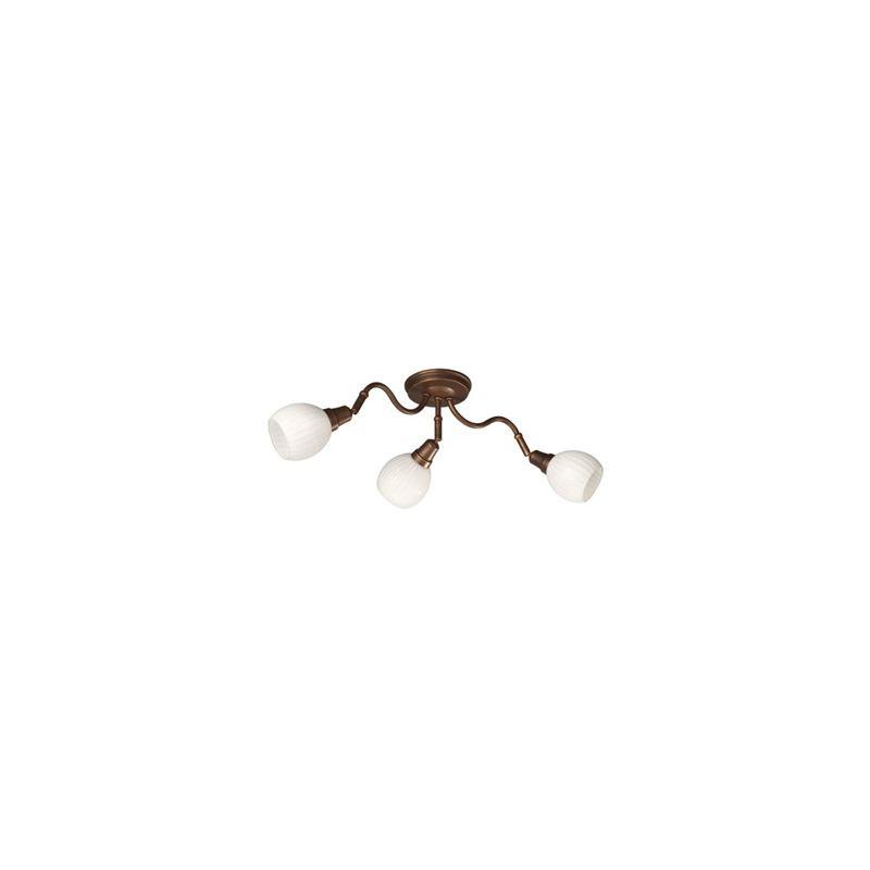 Massive - ALTARI Plafoniere marrone anticato vetro bianco lavorato