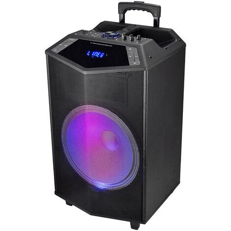 "Altavoz Profesional Serie Prism 15"", Bluetooth, 140W / RMS, USB, LED, Recargable"