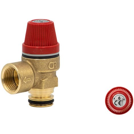 Altecnic Caleffi 6 Bar Pressure Relief Push Fit O-Ring Type - 312007CST
