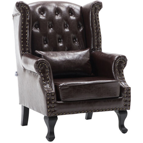 ALTHORPE LETHER RECLINER CHAIR-COFFEE