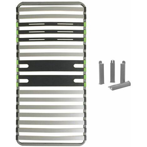 AltoZone - Pack Sommier 16 Lattes 90x200cm + Pieds Gris