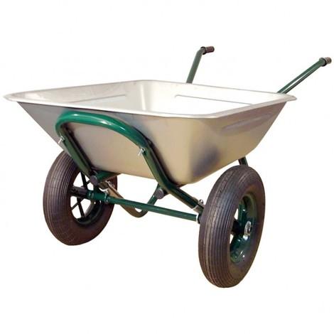 ALTRAD - Brouette 2 roues gonflables - galvanisée - 150 L