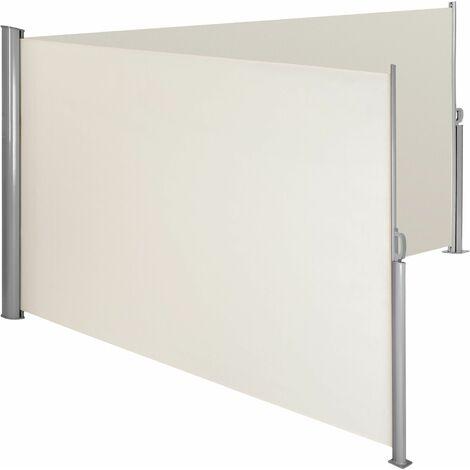 Alu Doppel Seitenmarkise - Windschutz, Sichtschutzrollo, Seitenmarkise