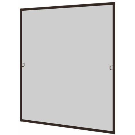 Alu Insektenschutzfenster 100x120 cm, braun