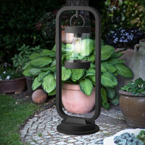 ALU lampe sur pied éclairage extérieur de jardin lampe de base ANTHRACITE dans un ensemble comprenant des ampoules LED