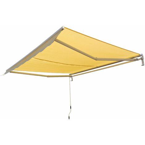 Alu Markise beige 3 x 2,5 m Gelenkarmmarkise Sonnenschutz Sichtschutz