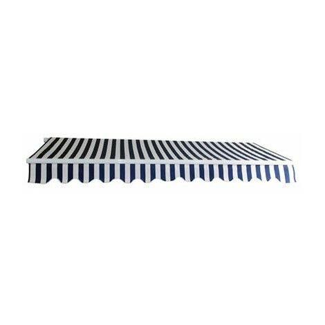 Alu Markise blau / weiß 3 x 2,5 m Gelenkarmmarkise Sonnenschutz Sichtschutz