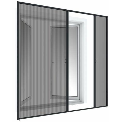 Alu Plissee-Doppeltür – 240x240 cm, anthrazit