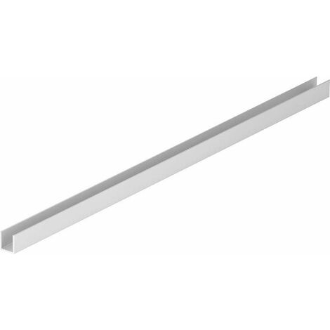 Alu rail sol pour Walk-In paroi douche pour verre 8 mm 10x10x1650 mm