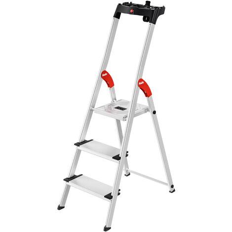Alu Stehleiter - Stufentiefe 13cm (in verschiedenen Größen erhältlich)
