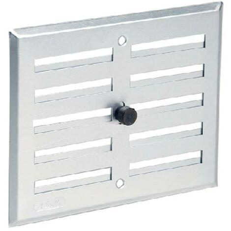 Aluminio anodizado gris con cierre: rectangular 17x14