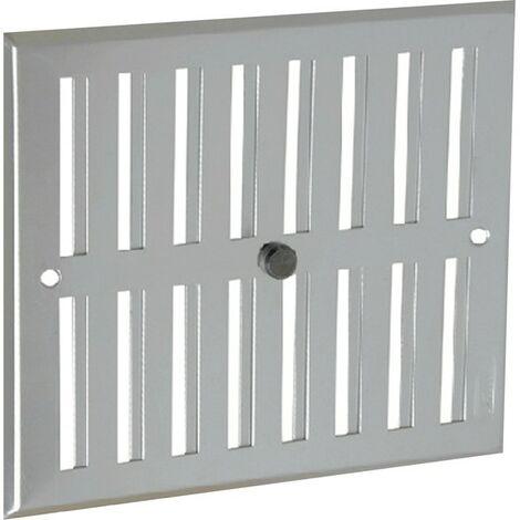 Aluminio anodizado gris con cierre: rectangular 17x19