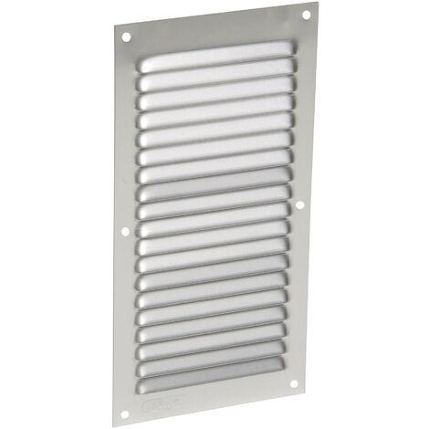 Aluminio anodizado gris con mosquitera: vertical rectangular 20X10