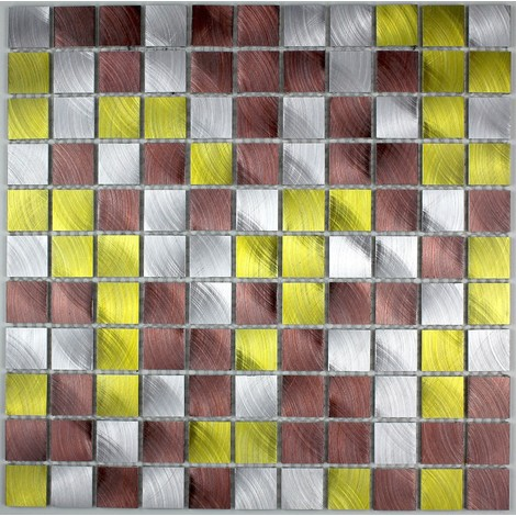 Aluminio azulejo de la pared ma-alu25-dor