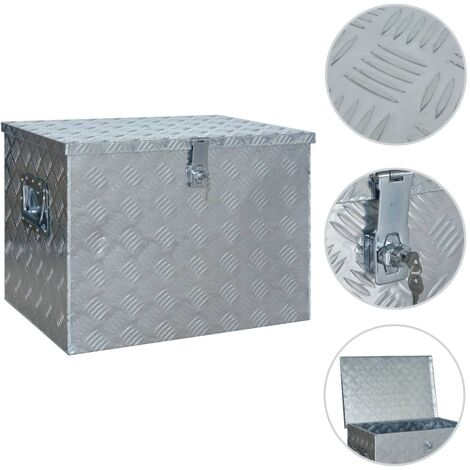 Aluminium Box 610x430x455 mm Silver