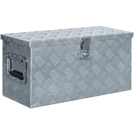 Aluminium Box 61.5x26.5x30 cm Silver