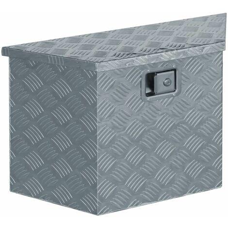 Aluminium Box 70x24x42 cm Trapezoid Silver