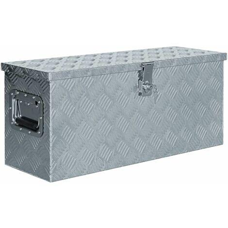 Aluminium Box 76.5x26.5x33 cm Silver