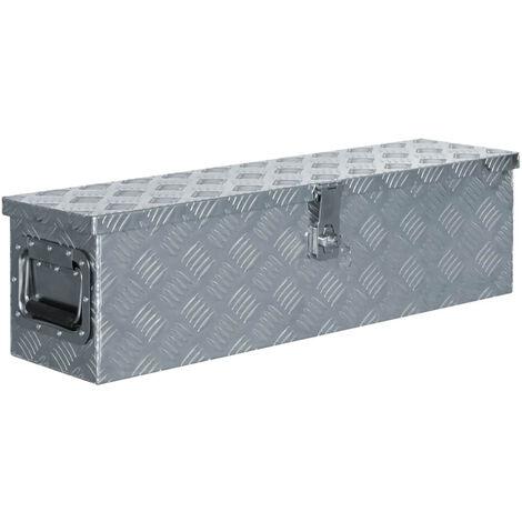Aluminium Box 80.5x22x22 cm Silver