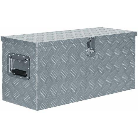 Aluminium Box 80x30x35 cm Silver
