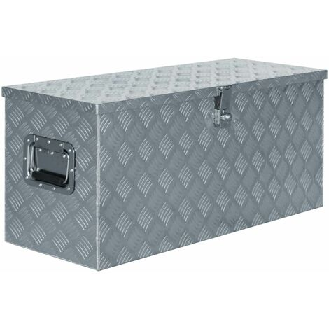 Aluminium Box 90.5x35x40 cm Silver