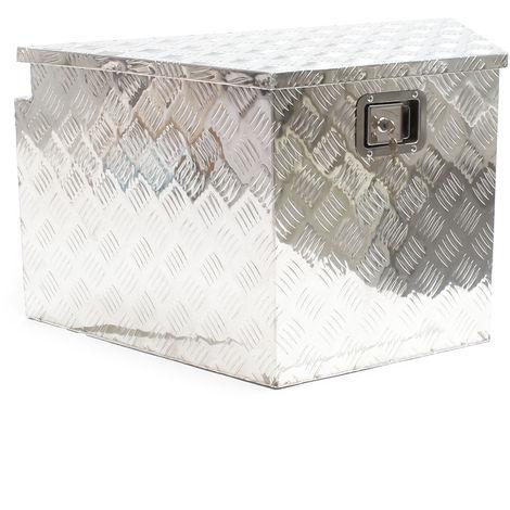 Tool Box Chequer Plate Site Box Storage Chest Tool Van Aluminum Gas Spring