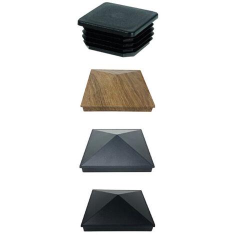 Aluminium Cap 100x100mm Black