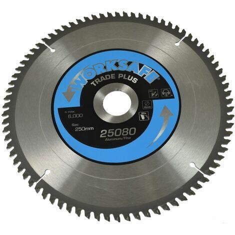 Aluminium Cutting TCT Circular Saw Blade 250 x 30mm 80tpu